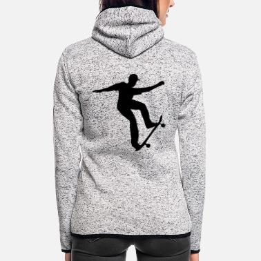 Skateboard Skateboarding, Skateboarder - Women's Hooded Fleece Jacket