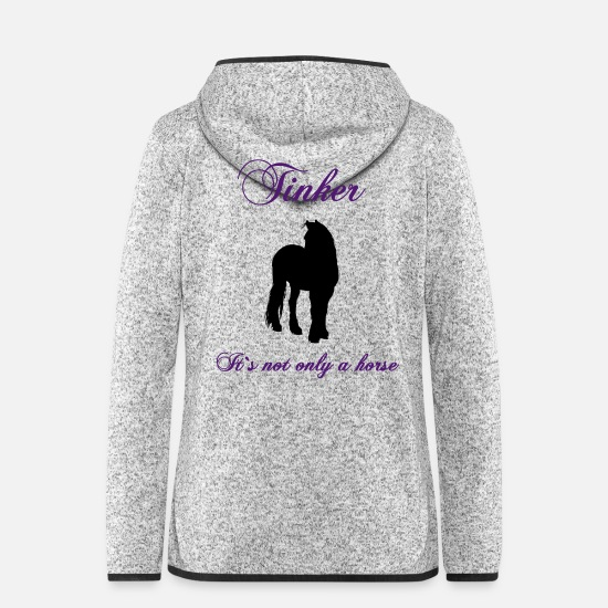Silhouette Jackets - tinker_its_not_only_a_horse - Women's Hooded Fleece Jacket light heather grey