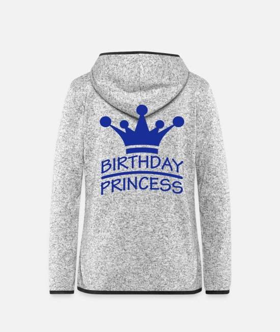 Ålder Jackor - Happy Birthday Princess Logo - Fleeceluvjacka dam gråmelerad