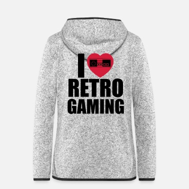 I Love Retro i love retro gaming - Hette-fleecejakke for kvinner