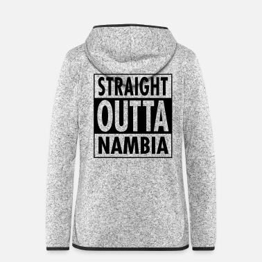 Tongue Straight Outta Nambia - Women's Hooded Fleece Jacket