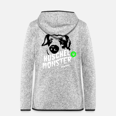 Picture Cuddly monster with picture - Women's Hooded Fleece Jacket