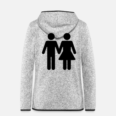 Restroom Couple WC Style - Women's Hooded Fleece Jacket