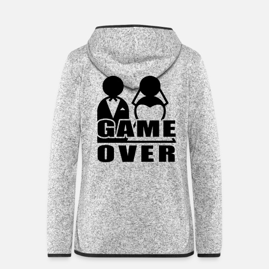 Game Over Jackets - Game Over - Marriage - Women's Hooded Fleece Jacket light heather grey