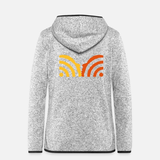 Web Jackets - rss kiss - Women's Hooded Fleece Jacket light heather grey