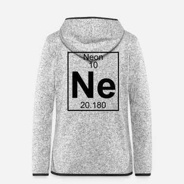 Neon Periodic table element 10 - Ne (neon) - BIG - Frauen Fleece Kapuzenjacke