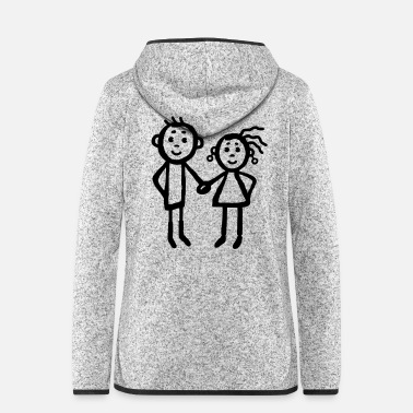 Siblings Couple - siblings - Women's Hooded Fleece Jacket
