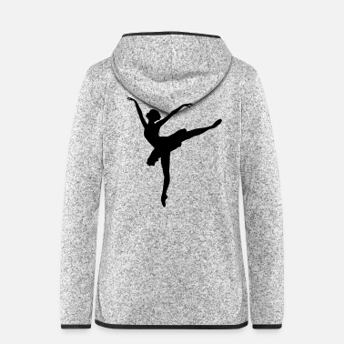 Model Topmodel Ballerina - Frauen Fleece Kapuzenjacke
