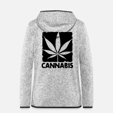 Leaf cannabis leaf boxed - Frauen Fleece Kapuzenjacke