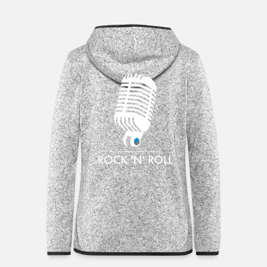 Rock N Roll Old School Mic - Rock 'n 'Roll - Frauen Fleece Kapuzenjacke