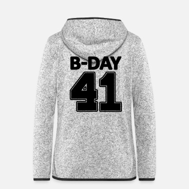 Number Number 41 years 41st birthday number number numbers - Women's Hooded Fleece Jacket