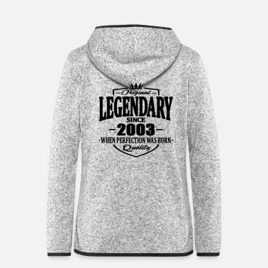 Legendär Legendär seit 2003 - Frauen Fleece Kapuzenjacke