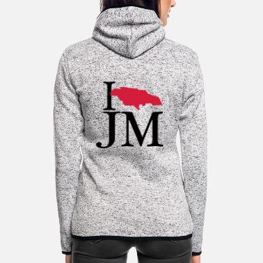 Jm I love JM - I love Jamaica - Women's Hooded Fleece Jacket