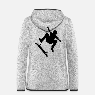 Skateboard Skateboarder on skateboard - Women's Hooded Fleece Jacket