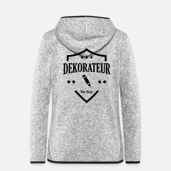 Painter Jackets - Decorator / Designer / Dekorateur / Décorateur - Women's Hooded Fleece Jacket light heather grey