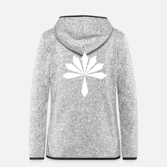Festival Jackets & Vests - GBIGBO zjebeezjeboo - Rock - Flower [FlexPrint] - Women's Hooded Fleece Jacket light heather grey