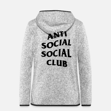 Social anti social social club - Women's Hooded Fleece Jacket
