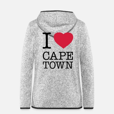 Town I LOVE CAPE TOWN - Frauen Fleece Kapuzenjacke