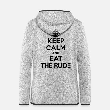 Rude Keep calm and eat the rude (Hannibal) - Giacca di pile con cappuccio donna
