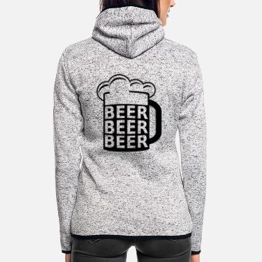 Beer Beer Beer Beer - Women's Hooded Fleece Jacket