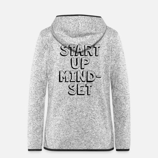 Hustle Vestes - Start Up Mindset - Veste à capuche polaire Femme gris clair chiné