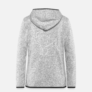 Bold Paper elephant - Women's Hooded Fleece Jacket