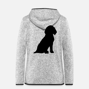 Sit Beagle sitting - Women's Hooded Fleece Jacket