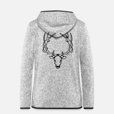 Hunting Deer - Women's Hooded Fleece Jacket