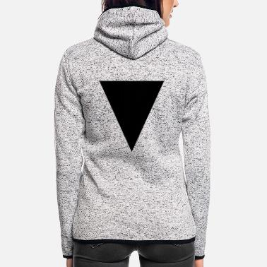 Modern Modern Triangle - Women's Hooded Fleece Jacket