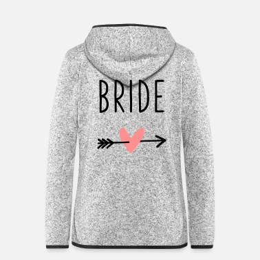 Bride heart cupid arrow bachelor party - Women's Hooded Fleece Jacket