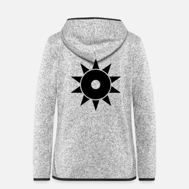 Big black sun moon and stars super design idea - Women's Hooded Fleece Jacket