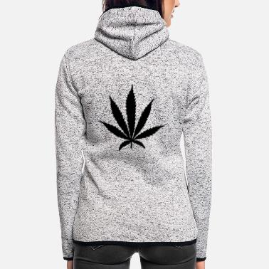 Leaf cannabis leaf - Frauen Fleece Kapuzenjacke