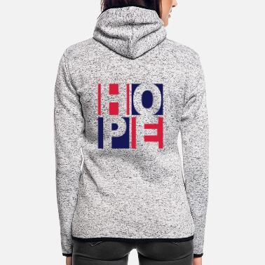 Hop Hope - Frauen Fleece Kapuzenjacke