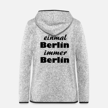 Meeting Berlin - Frauen Fleece Kapuzenjacke
