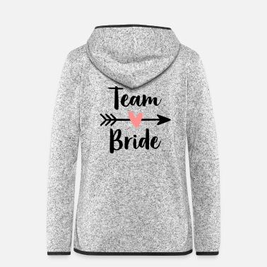 Team Bride heart cupid arrow hen party - Women's Hooded Fleece Jacket