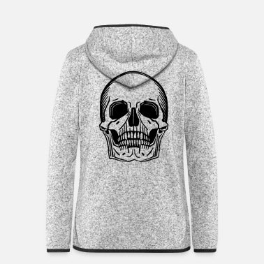 Grave Choose skull color yourself - Women's Hooded Fleece Jacket