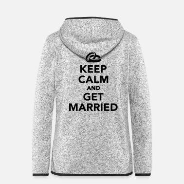 Heiraten Heiraten - Frauen Fleece Kapuzenjacke