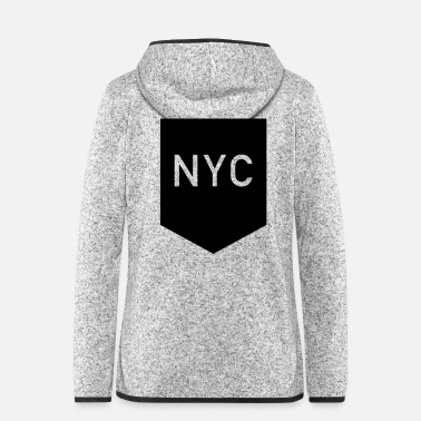 Nyc Brusttasche: NYC - Frauen Fleece Kapuzenjacke