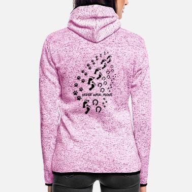 never walk alone 3 - Women's Hooded Fleece Jacket
