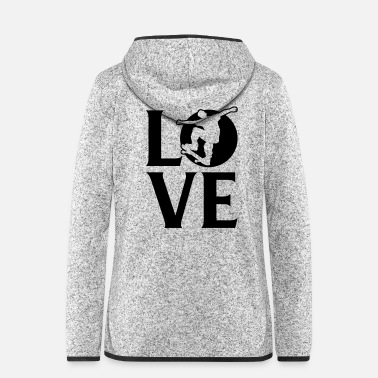 Thrash Skateboarder Love - Skateboading -Skate-Profi-King - Frauen Fleece Kapuzenjacke