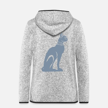 Ancient Ancient Egyptian cat BASTET - Women's Hooded Fleece Jacket