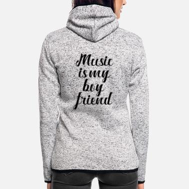 Music Music is my friend - Women's Hooded Fleece Jacket