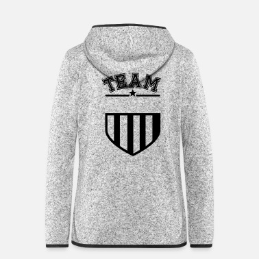 Familienwerte Dein Team Dein Text - Frauen Fleece Kapuzenjacke