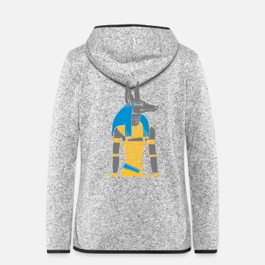 Ancient The ancient Egyptian god Anubis - Women's Hooded Fleece Jacket