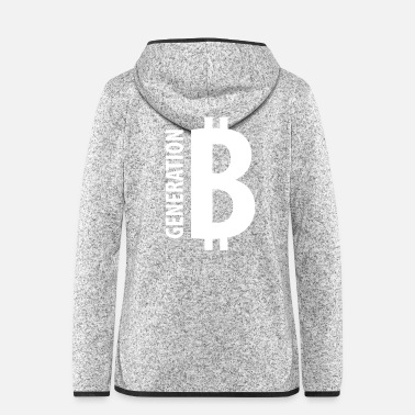 Cash GENERATION BITCOIN – Blockchain Krypto - Frauen Fleece Kapuzenjacke