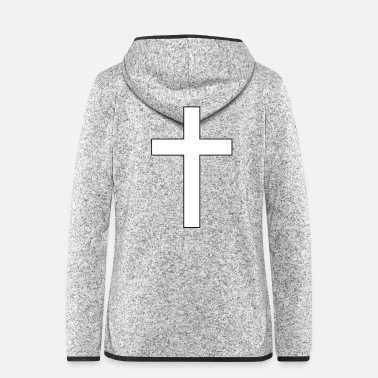 Clipart crucifix clipart black and white cross - Frauen Fleece Kapuzenjacke