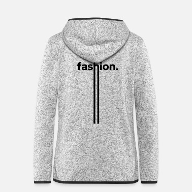 Trend fashion trend stripes dot - Frauen Fleece Kapuzenjacke