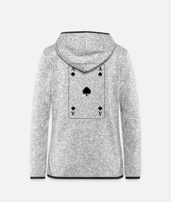 Ace Jackets - ace - Women's Hooded Fleece Jacket light heather grey