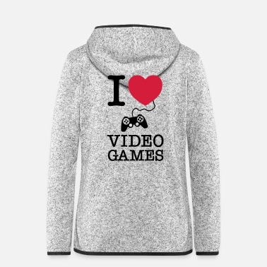 Video I Love Video Games - Hætte-fleecejakke dame