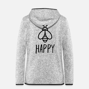 Cheers Bee Happy - Women's Hooded Fleece Jacket